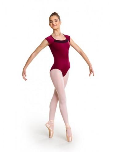 COTTON LYCRA SHORT SLEEVE PLAIN FRONT TAP//MODERN//DANCE//BALLET TUTU LEOTARD